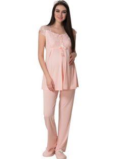 Mecit 6lı Hamile-Lohusa Pijama, Gecelik, Saç Bandı ve Terlik Set 1623S 3