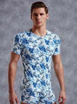 Desenli Slim Fit Desenli Erkek T-shirt 2540