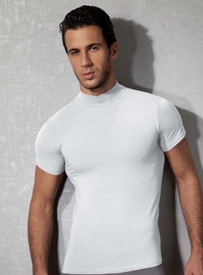 Doreanse, Amerikan Yaka Slim Fit Erkek T-shirt 2730 beyaz