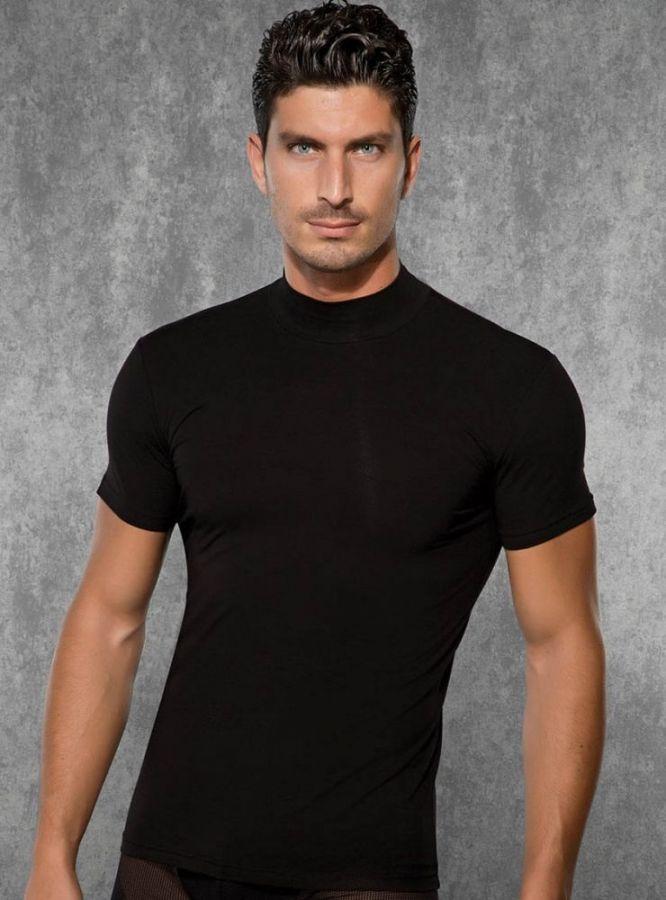 Doreanse, Amerikan Yaka Slim Fit Erkek T-shirt 2730 siyah