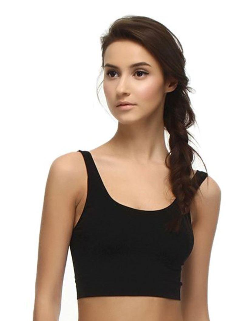 NBB iç giyim Geniş Askılı Dikişsiz Büstiyer 2410 siyah