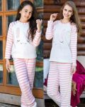 Anıl Tavşan Baskılı Polar Anne Kız Pijama Takımı 6331-9470