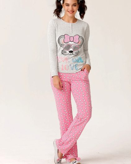 Cossy By Aqua Cepli 3lü Bayan Pijama Takımı 18087 2