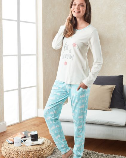Doreanse Bayan Pijama Takımı 4028 ayakta