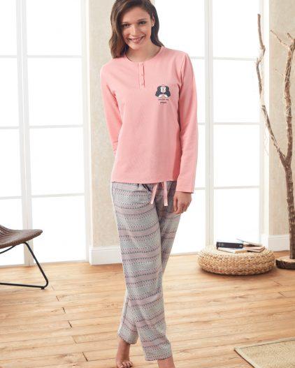 Doreanse Bayan Pijama Takımı 4038 ayakta