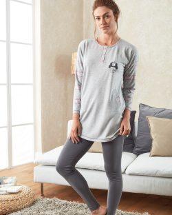 Doreanse Bayan Pijama Takımı 4048 ayakta