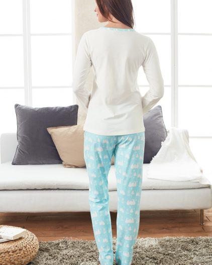 Doreanse Bayan Pijama Takımı 4158 arka