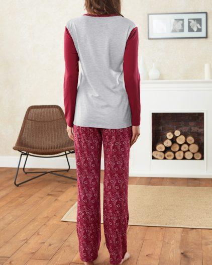 Doreanse Bayan Pijama Takımı 4188 arka