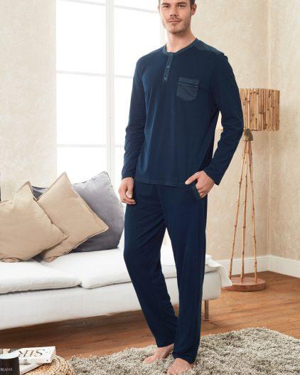 Doreanse Erkek Pijama Takımı 4248 lacivert