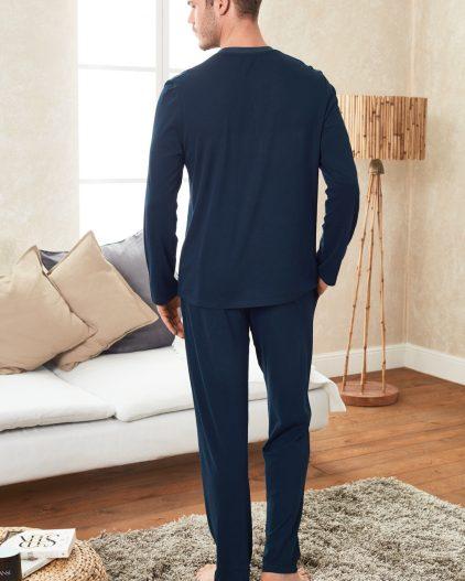 Doreanse Erkek Pijama Takımı 4248 lacivert arka