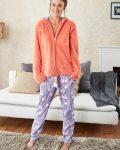 Doreanse Kapşonlu Bayan Pijama Takımı 4118