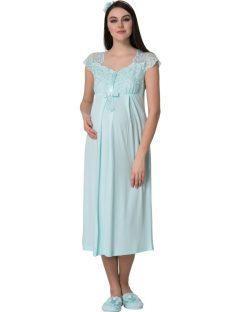 Mecit 6lı Hamile-Lohusa Pijama, Gecelik, Saç Bandı ve Terlik Set 1623T 3