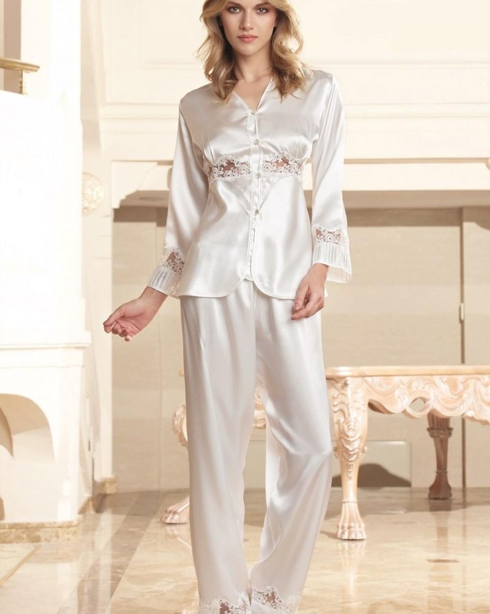 Nurteks Saten Pijama Takımı 5675