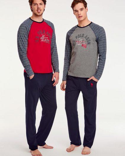 U.S Polo Assn Baskılı Erkek Pijama Takımı 17508