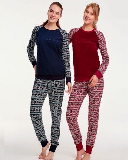 U.S Polo Assn Desenli Bayan Pijama Takımı 15918