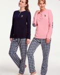 U.S Polo Assn Kareli Bayan Pijama Takımı 15925