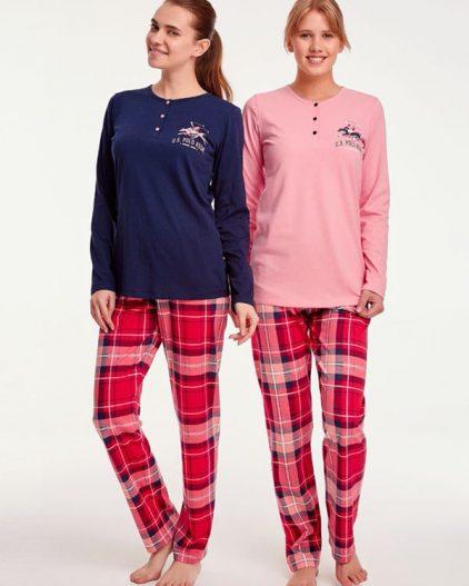U.S Polo Assn Kareli Bayan Pijama Takımı 15949