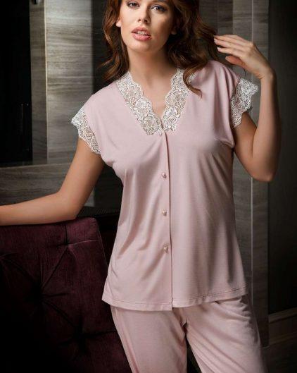 Bondy 6lı Çeyizlik Penye Gecelik ve Sabahlık Set 1028 pijama