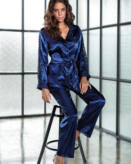 Bondy 6lı Çeyizlik Saten Gecelik ve Pijama Set 2368 saten pijama