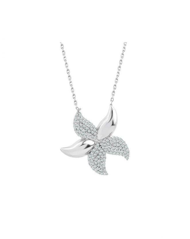 925 Ayar Zikron Taşlı Gümüş Deniz Yıldızı Kolye R1044