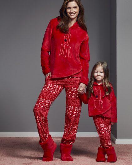 Catherines Bot Hediyeli Anne Kız Pijama Takımı 1134-1135