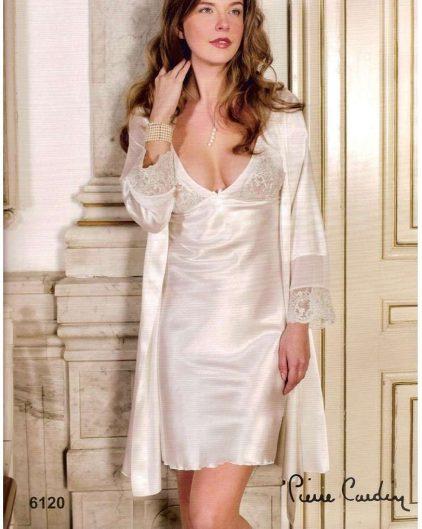 Pierre Cardin iç giyim Çeyizlik 6lı Saten Gecelik, Pijama, Sabahlık ve Şort Takımı 6120