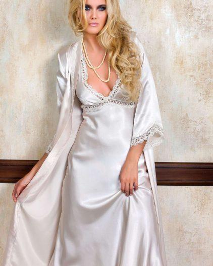 Pierre Cardin iç giyim Çeyizlik 6lı Saten Gecelik, Pijama, Sabahlık ve Şort Takımı 6630