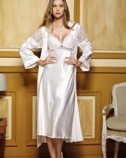 Pierre Cardin iç giyim Çeyizlik 6lı Saten Gecelik, Pijama, Sabahlık ve Şort Takımı 6950