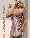 X-Lady iç giyim, Dantelli, Saten Babydoll Gecelik 4552