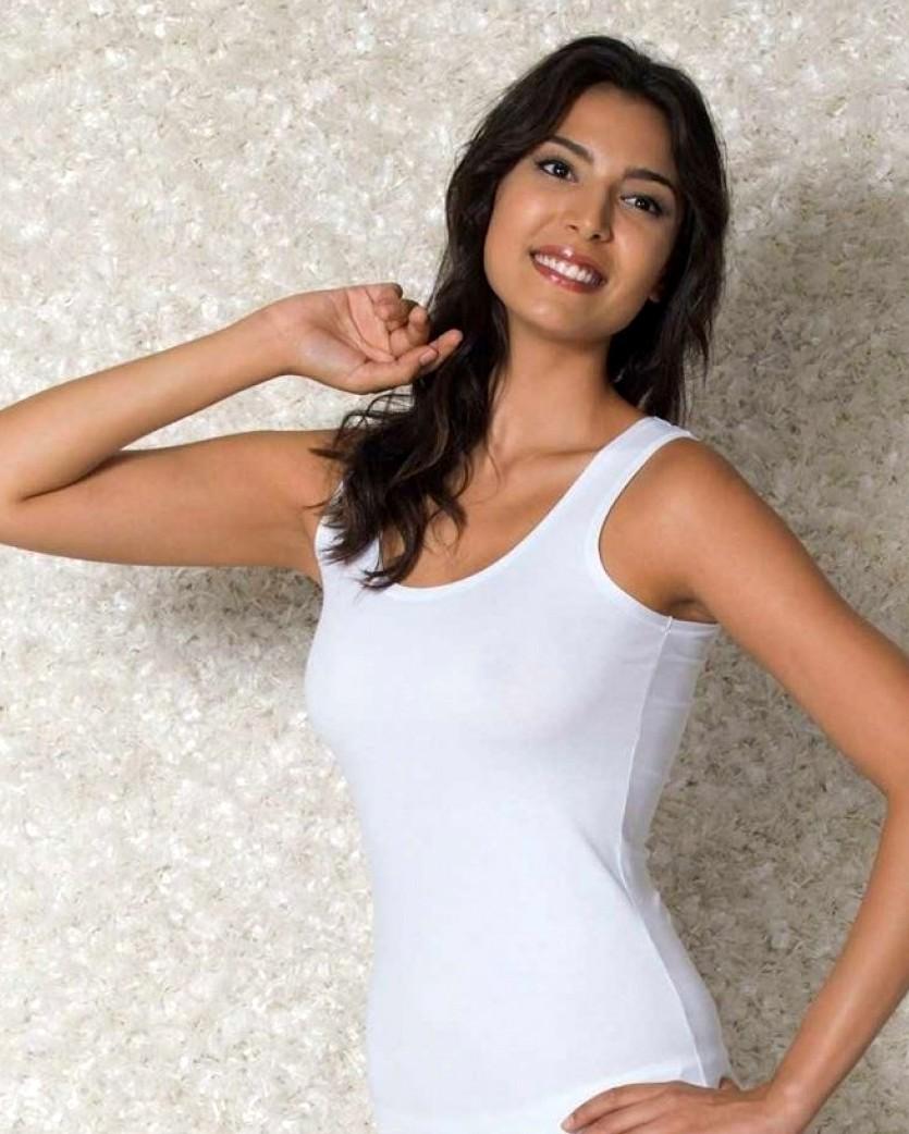Doreanse iç giyim, Likralı Modal Kumaş Pamuklu Kalın Askılı Bayan Atlet 9335