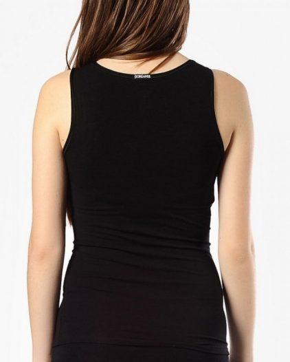 Doreanse iç giyim, Modal Kumaş Pamuklu Kalın Askılı Bayan Atlet 9336 siyah arka