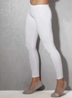 Doreanse, Likralı Bayan Tayt 8012 beyaz