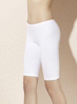 Doreanse, Likralı Uzun Şort 9901 beyaz