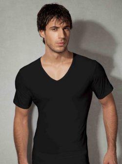 Doreanse, Pamuklu V Yaka Erkek T-shirt 2810 siyah