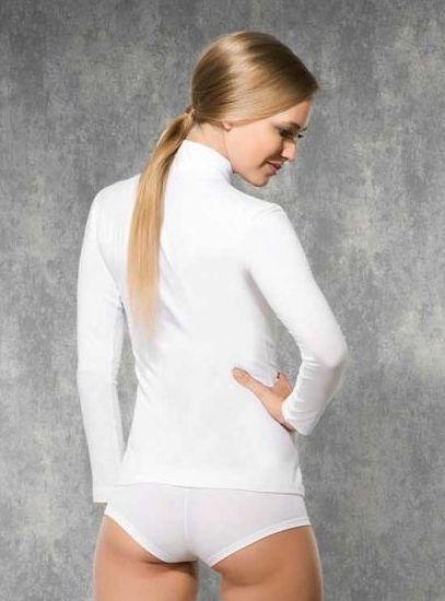 Doreanse, Uzun Kollu Boğazlı Likralı Bayan T-Shirt 8510 arka