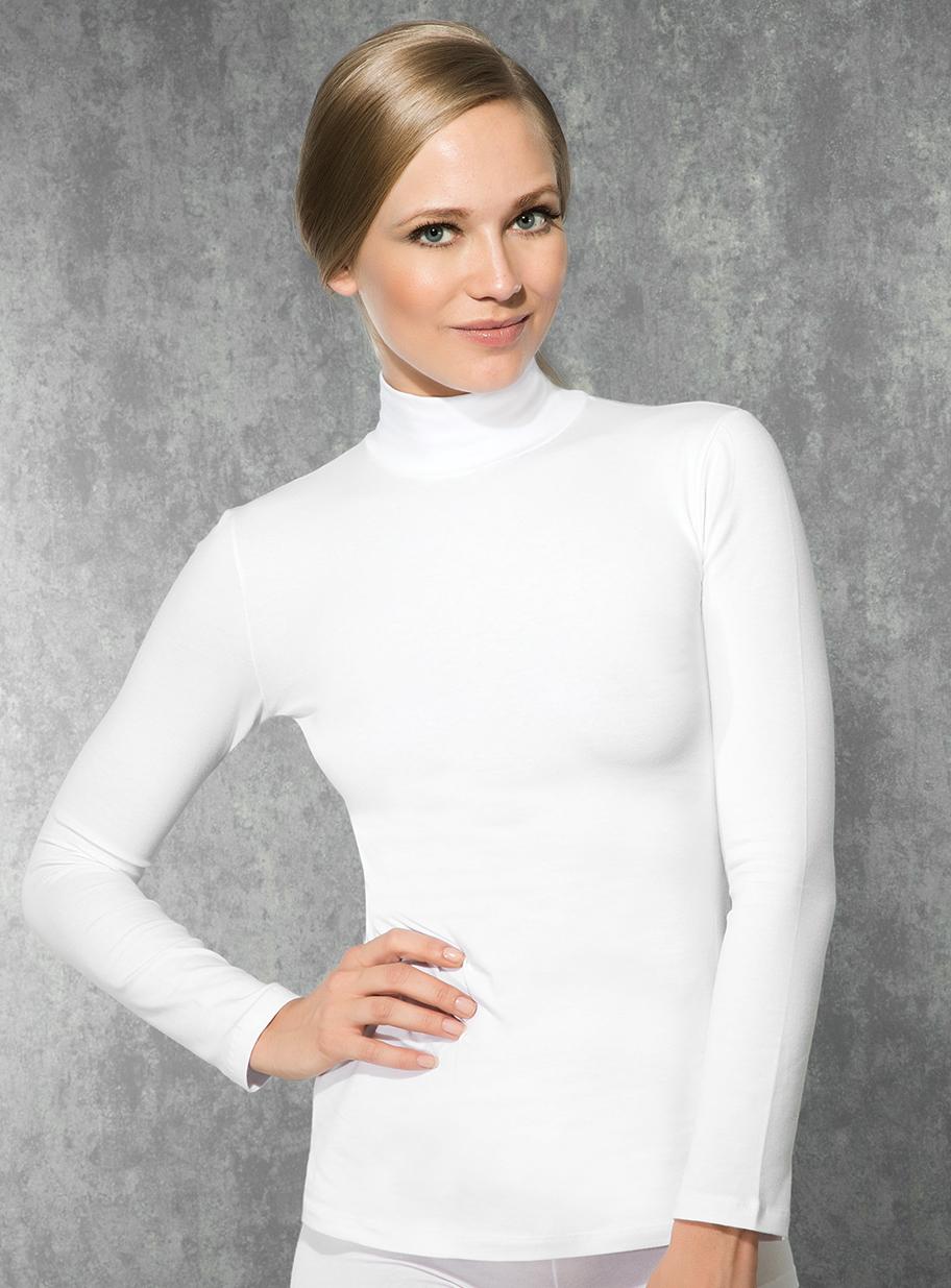 Doreanse, Uzun Kollu Boğazlı Likralı Bayan T-Shirt 8510