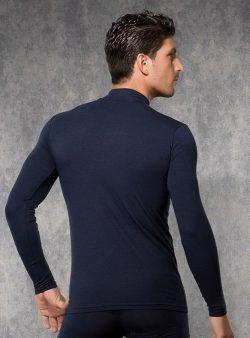 Doreanse, Uzun Kollu Boğazlı Slim Fit Erkek T-shirt 2930 arka