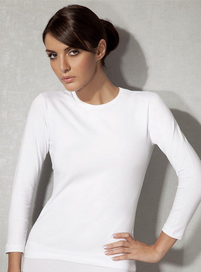 Doreanse, Uzun Kollu Likralı Bayan T-Shirt 8512