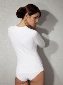 Doreanse, Uzun Kollu Likralı Bayan T-Shirt 8512 arka
