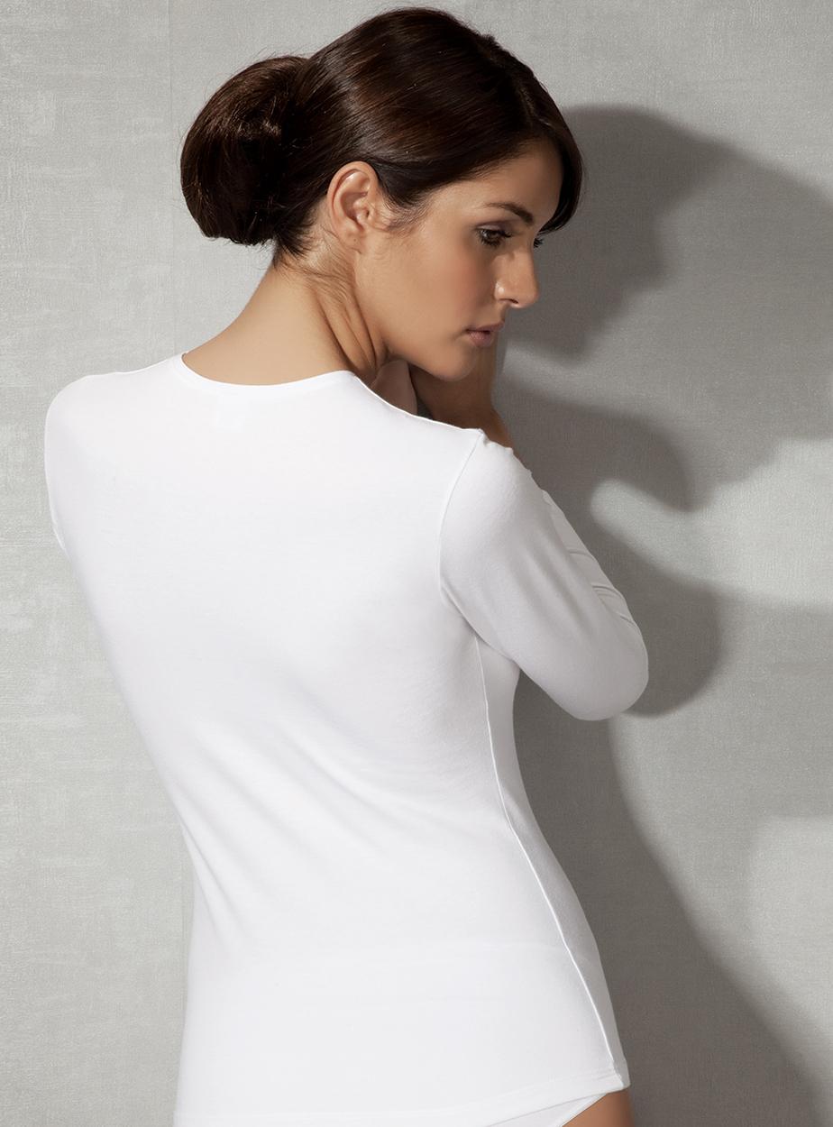 Doreanse V Yaka Bayan T-Shirt 9385 arka