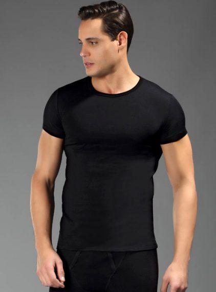 Eros Kısakol Erkek Termal T-shirt 1454 siyah