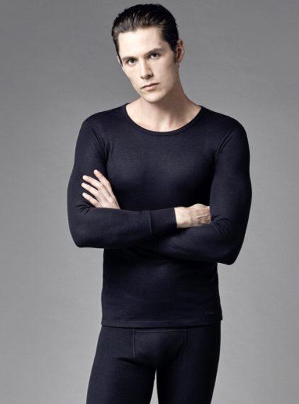 Eros Uzun Kollu Erkek Termal T-shirt 1452 siyah