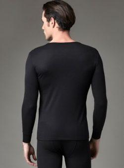 Eros Uzun Kollu Erkek Termal T-shirt 1452 siyah arka
