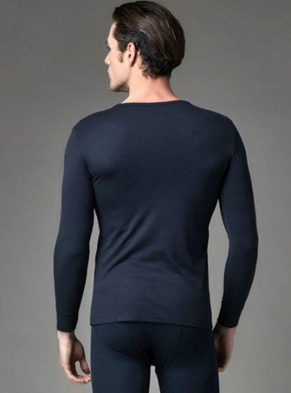 Eros V Yaka Erkek Termal T-shirt 1458 lacivert arka