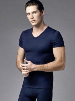 Eros V Yakalı Erkek Termal T-shirt 1456 lacivert
