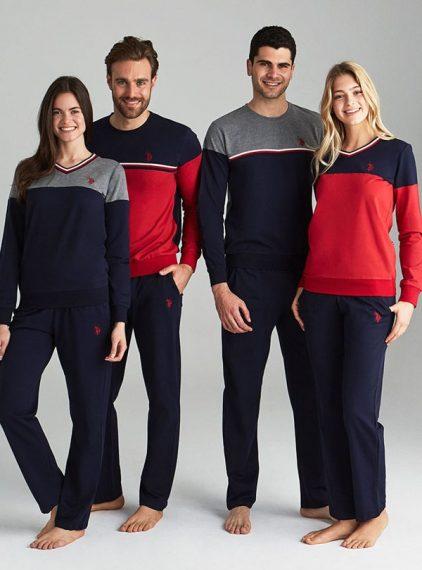 U.S Polo Sevgili, Çift Pijama Takımı 18105-16110