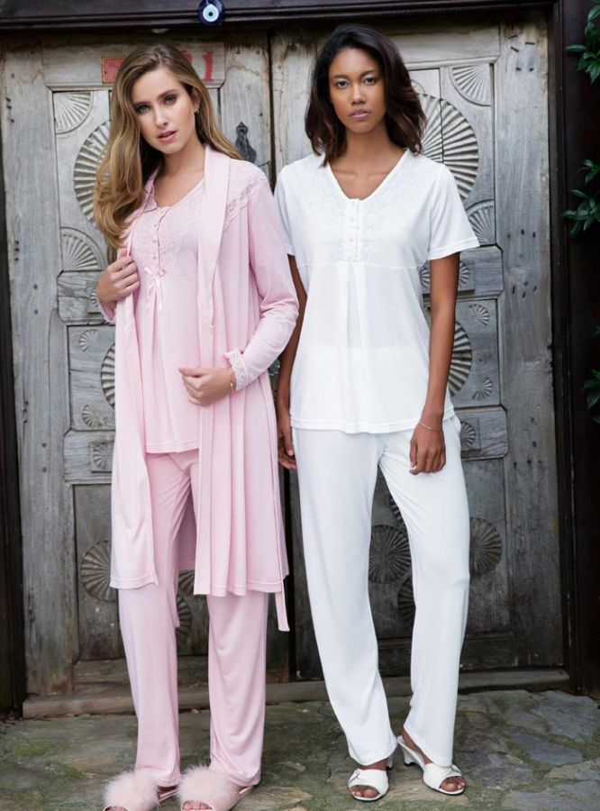 Bayan Üçlü Pijama Takımı