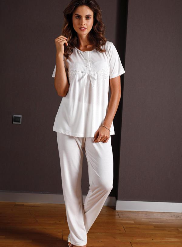Yeni İnci Üçlü Pamuklu Pijama Takımı 149 1