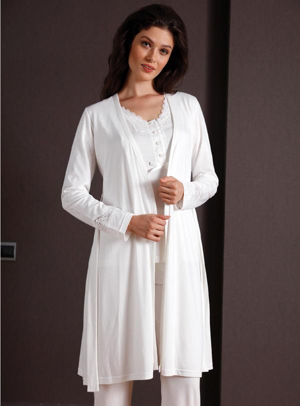 Yeni inci Üçlü Pamuklu Pijama Takımı 129 2
