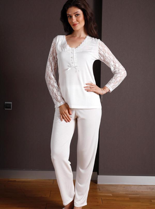 Yeni inci Üçlü Pamuklu Pijama Takımı 129 3